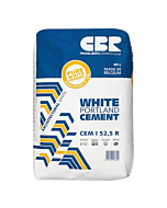 Witte Portlandcement CEM II A-LL 42.5N, zak à 25kg